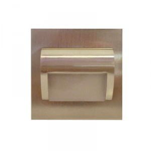LED nástěnné schodišťové svítidlo BERYL nikl 1,5W 9xSMD3014 12V DC studená bílá